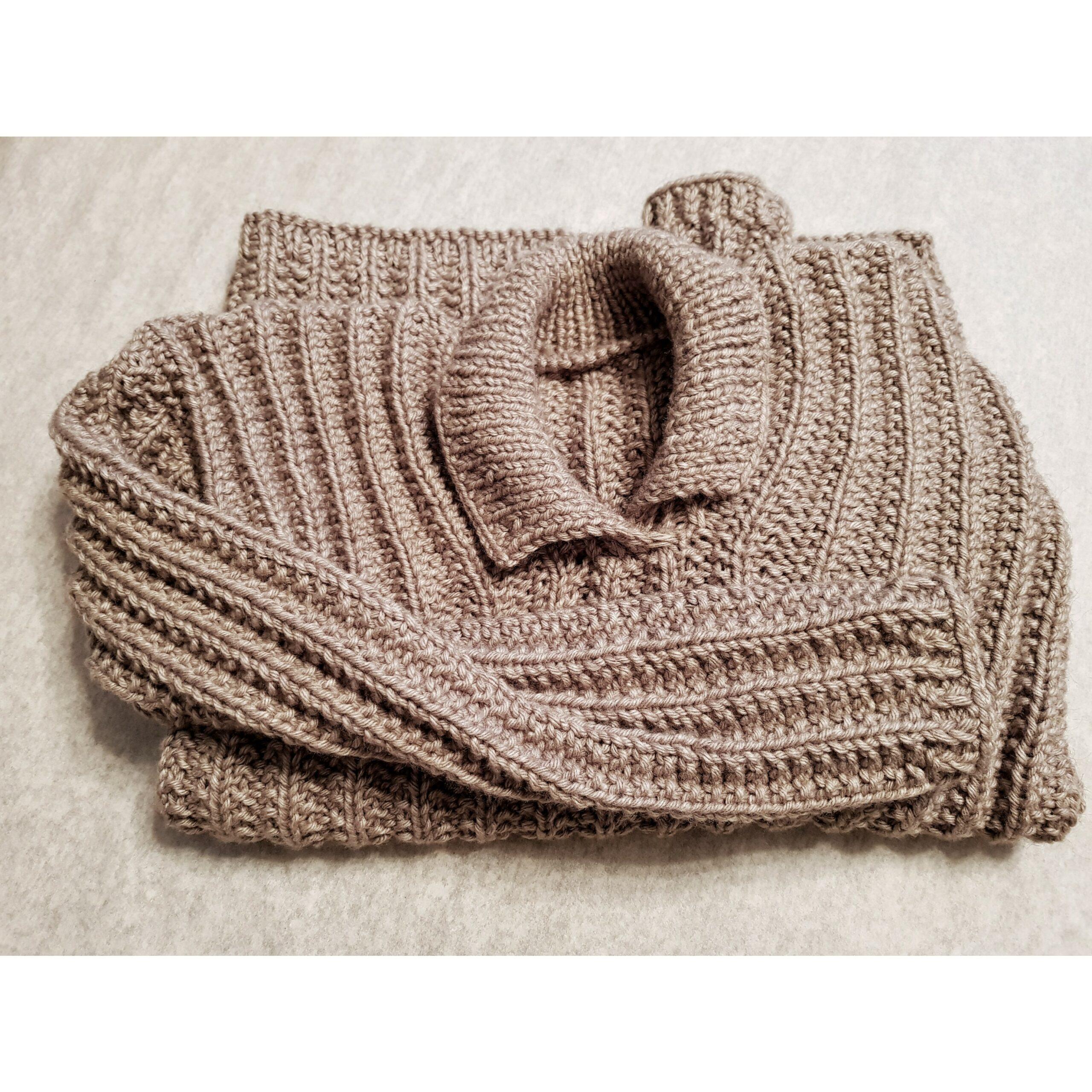 свитер связанный большого размера